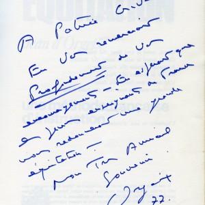Jean d'Orgeix. Entraîneur national de CSO, médaille d'or par équipe 1976