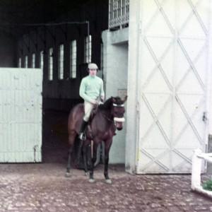 Saumur, Allinton devant le manège Margueritte