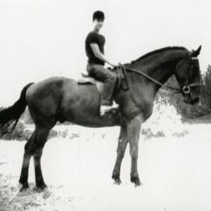 Tendre souvenir d'adolescent  et de vacances heureuses  avec le cheval Jacquot . Pour la première fois  j'avais  la charge de  m'occuper seul d'un cheval