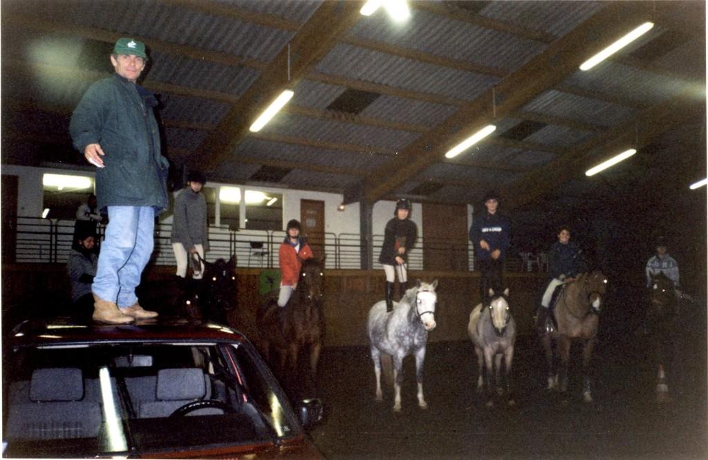 Folle ambiance, folle musique et autres petites folies très appréciées des élèves et des chevaux. Erstein- Bas-Rhin – année 2000